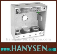 2'' Deep 4-9/16''H and 4-9/16''W Aluminum Double Gang Weatherproof Junction Box/ ThreeGang Outlet