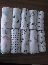 "70% Bamboo 30% Cotton Muslin Wrap Blanket 47x47"" Baby Muslin Infant Swaddle"