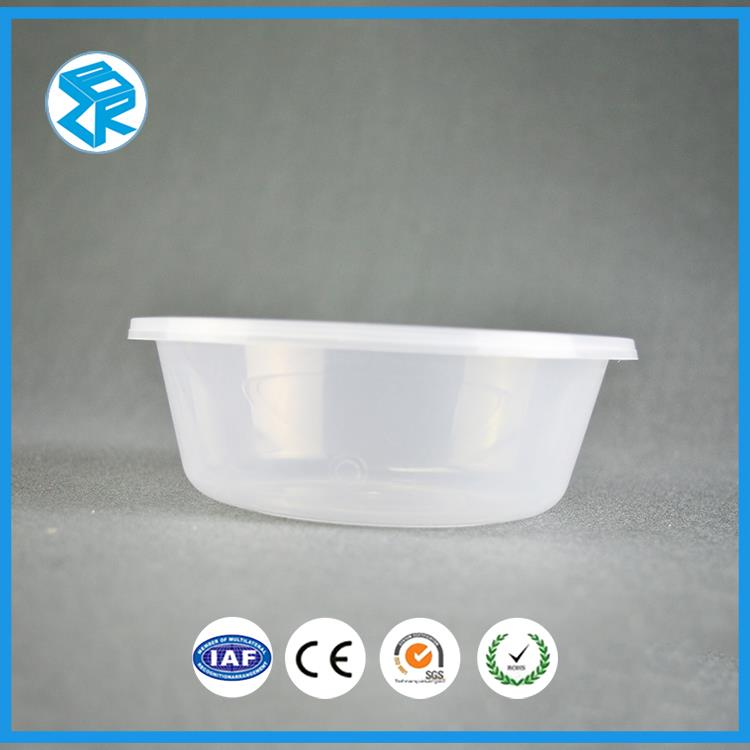 Round Plastic Tray Box Large Fast Food Light Packaging Restaurant Take Out Containers