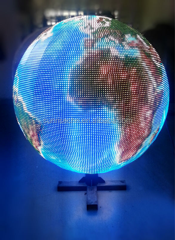 Sunrise hd 3D full color led ball display p4 p5 p6 indoor Globe LED display,Ball indoor LED sphere display screen sign boards