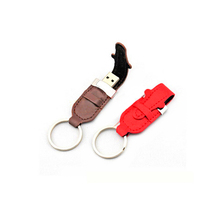 promotional custom logo 2gb 4gb 8gb 16gb 32gb 64gb 128gb Metal key USB with leather pouch