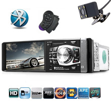 4.1 inch 1Din Car Radio Vehicle-mounted MP5 Video Player FM Radio Multimedia Audio Video with Rear Camera Steering wheel control