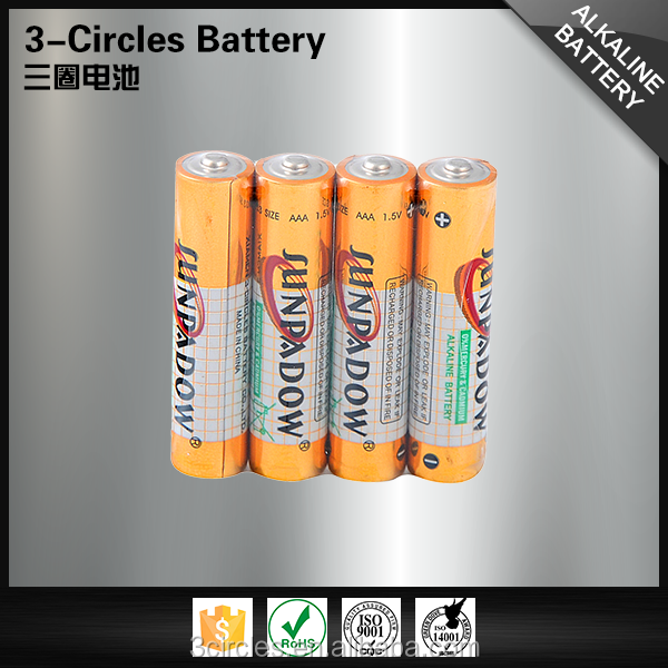 High discharge capacity wholesale 1.5v am4 alkaline battery size aaa
