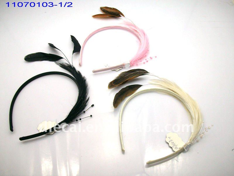 2011 Best selling fashion Gossip girl color ful feather flowers for feather headbands