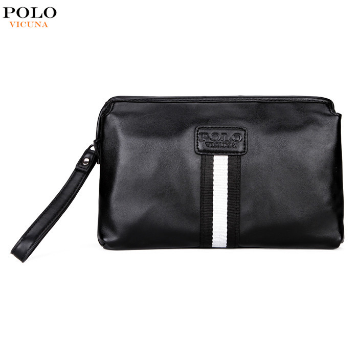 VICUNA POLO 2017 New Arrival Pouch Purses Fashion Style Clutch Wallet High Quality PU Leather <strong>Handbag</strong> For Men