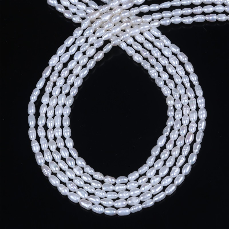 3-3.5mm White loose pearl freshwater strand tiny pearl beads