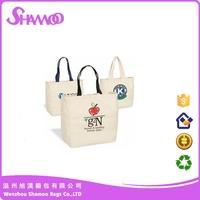 cotton tote bag custom fabric shopping organic cotton bag
