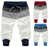 Fashion 3/4 knee men jogger sweatpants blank