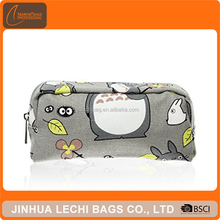 High Quality Cute Pen Bag Canvas Cosmetic Makeup Pouch Cartoon Cute Pencil Case