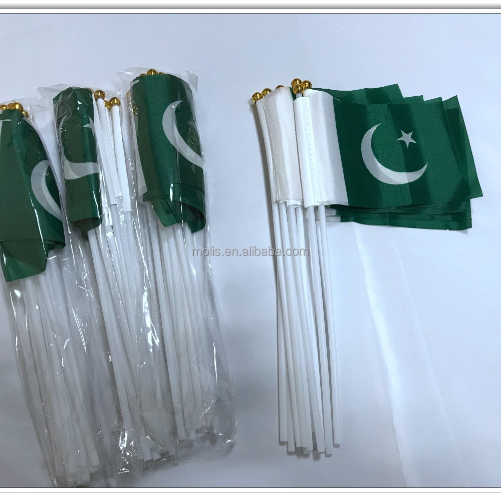 Cheap stock 10*15cm 4*6inches Pakistan flag