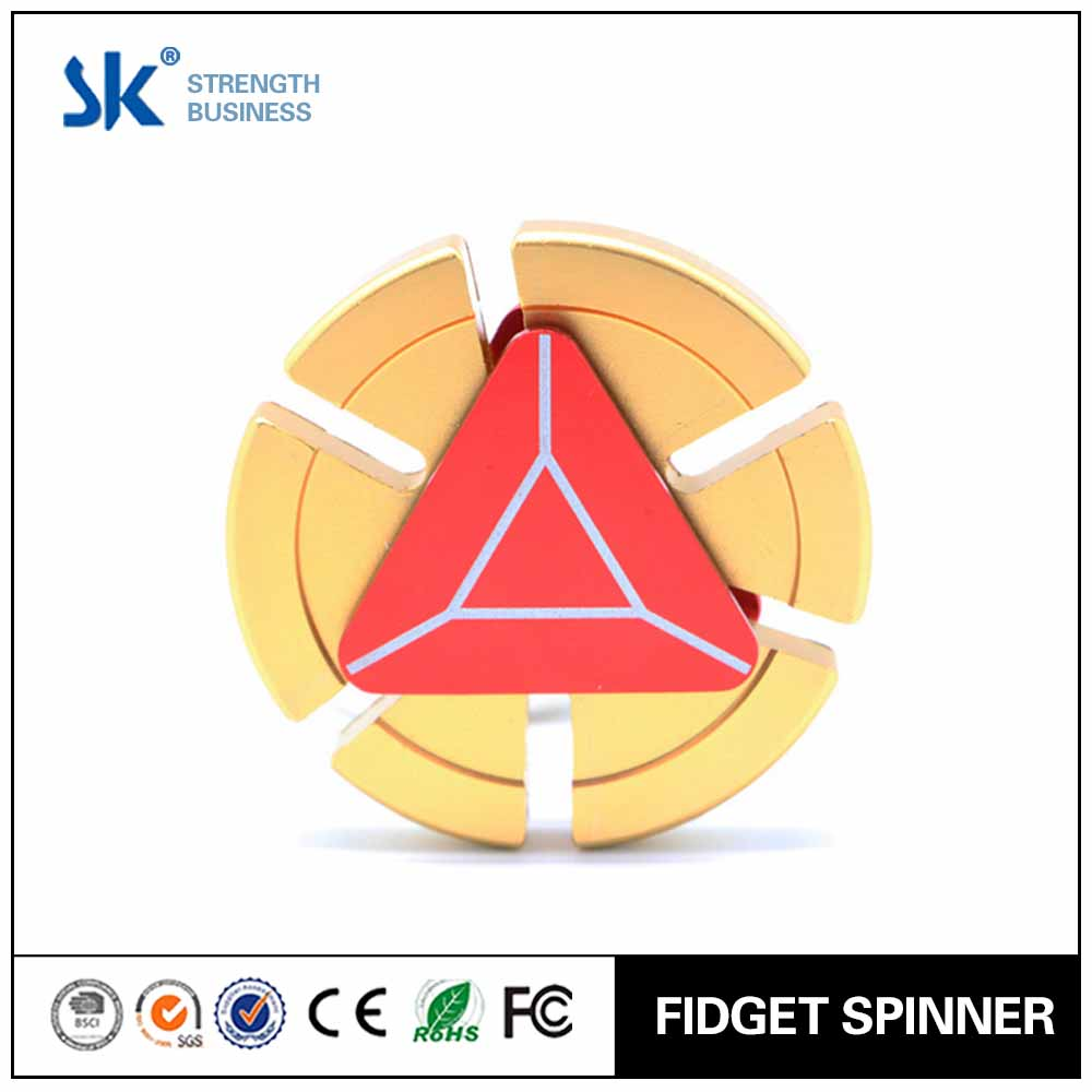 Sanke 2017 Aluminum alloy customized design zinc fidget spinner