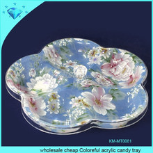 Wholesale cheap Colorful acrylic candy tray