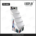 custom foldable pop cardboard lcd display stand cardboard floor display