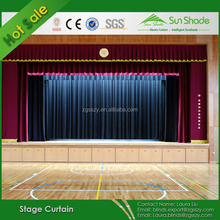 Flame retardant Church Velvet stage curtain For sale