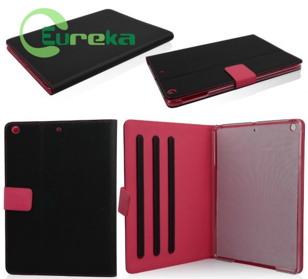 Hottest tablet protective hybrid leather flip case for ipad mini