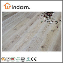 White washed European oak engineered wood flooring