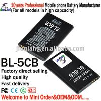 100% new BL-5CB orignal battery for nokia phones