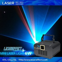 High quality 6w RGB full color animation mini disco laser light for pub laser show