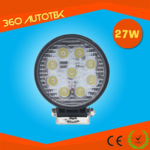 18 months warranty circle 27w auto led work light made in china