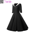 Hepburn Evening Party Swing Del Vestido Women Vintage 50-60s Rockabilly Retro Swing Dress
