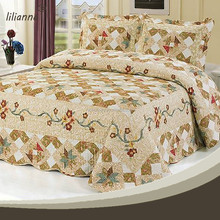 Popular handmade applique cotton quilts patterns