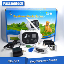KD-661 Electric Wireless Dog Fence with Warning Sound, Safe Electric Shock, Rechargeable Battery