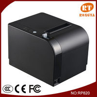 80mm 300mm/s WIFI+USB+Serial/Ethernet flash light alert optional thermal wireless food order printer RP820
