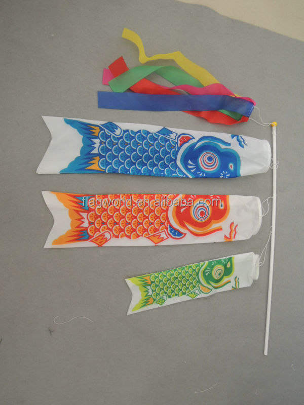 Japanese-made koinobori , traditional carp-shaped streamers for wholesale christmas decorations