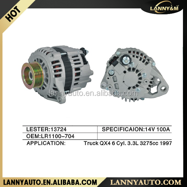 Yiwu Zhejiang new auto QX4 3.3L alternator 1997-2000 LR1100-704