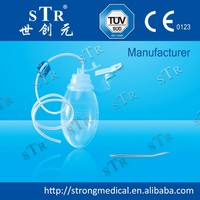CE Approved Medical Consumables 100 /200 /400 cc silicone reservoir Closed Wound Drainage System