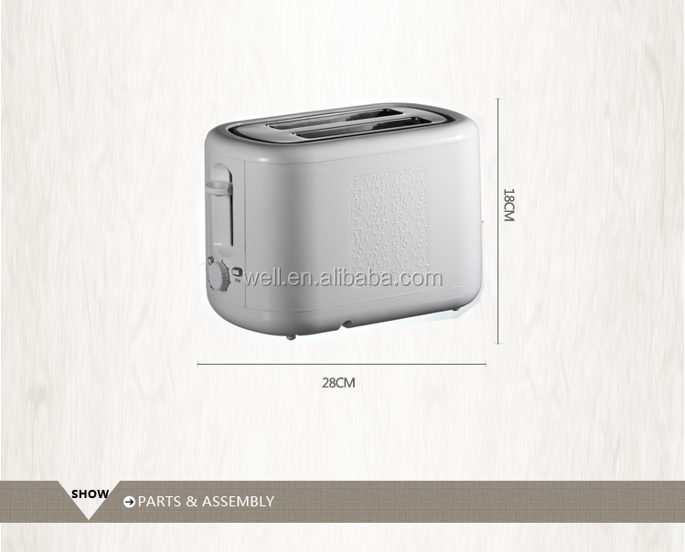 2 Slice hot sale Electric Pop-up long slot toaster