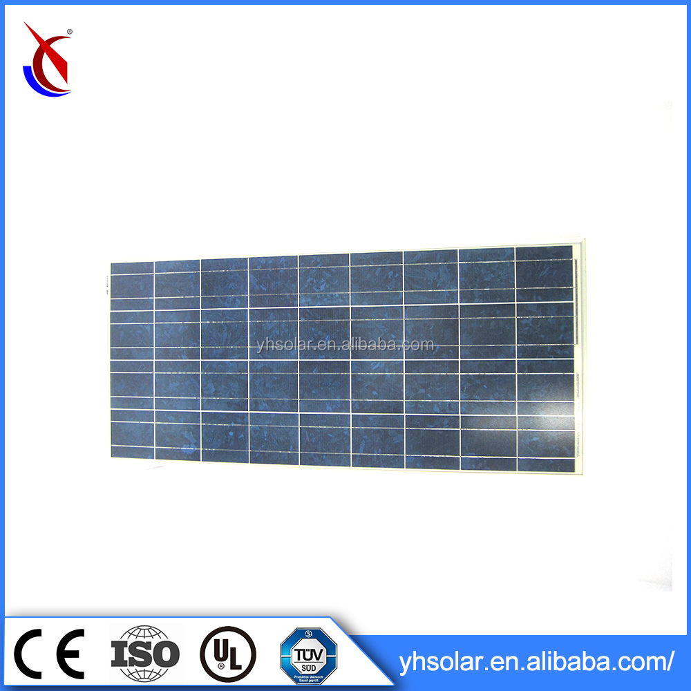 Anodized aluminium alloy frame 9.5kg solar panel pv solar panel/module cell 100w