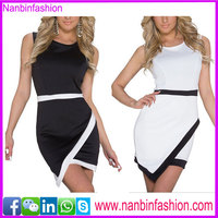 Nanbinfashion hot selling new design ladies office wear dresses dress