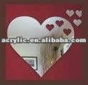 star shape plastic heart shape adhesive mirror sheet