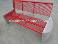 Leisurely steel tube bench with backrest(street bench)
