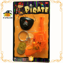 Kids pirate water gun toy,eye patch,earrings,coins