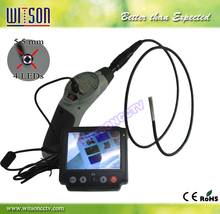 Witson 3.5'' fixed monitor automotive borescope with 8mm camera head with 4LED for automotive inspection