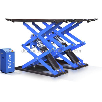 Auto used car lift in ground scissor lift TG-K3000 for sale