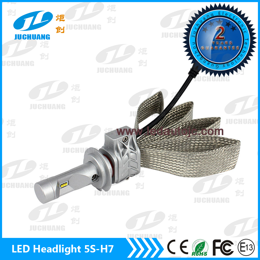 high power led head light auto parts car h1 h3 h7 led headlight bulb with PHI ZES chips