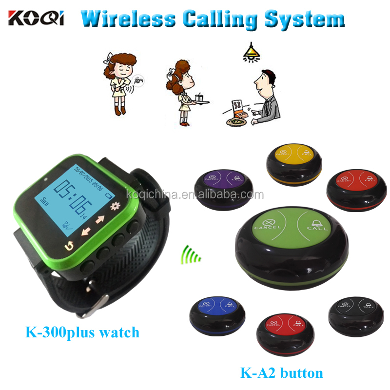 Customer service number device K-300plus+A2 wireless equipment for restaurant