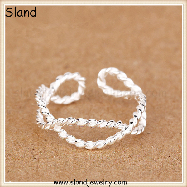 latest fashion jewellery designs ,Strange shape 925 sterling silver twist rings ,latest product of china Sland Brand Jewelry