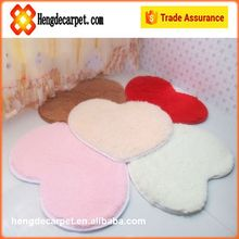 heart long pile shaggy rugs,machine made shaggy mat for bathroom from china