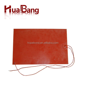3D printer heat bed silicone rubber heater