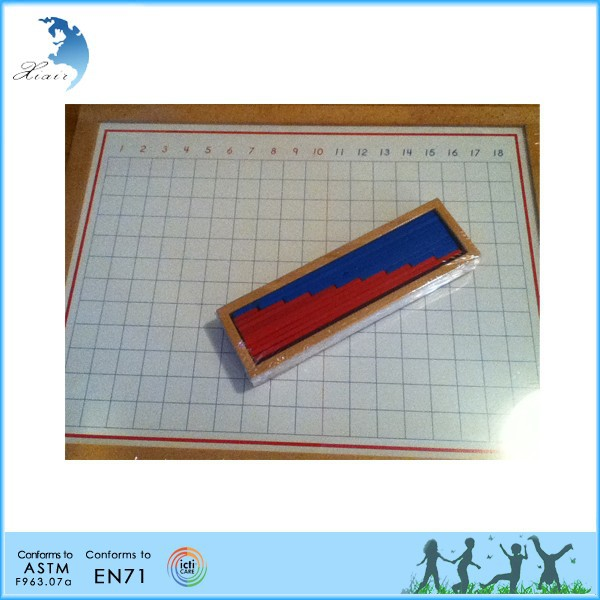 montessori teaching tools European standard wooden montessori toy