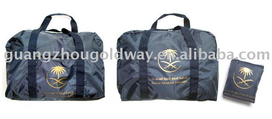 Promotional polyester foldable travel folding tote bag