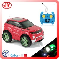 Hot sale plastic 2CH RC toy car with 3D flashing light