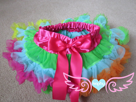 black with hot pink soft fluffy children Pettiskirt tutu
