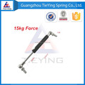 15kg/33lb Force 220mm Hole Pitch 70mm Stroke Hood Lift Support Auto Gas Springs M8 Hole Diameter Sliver Tone