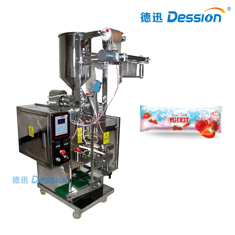 Small Sahcet Packaging Machine For Yogurt With Filling And Packaging Machine Measures In Grams