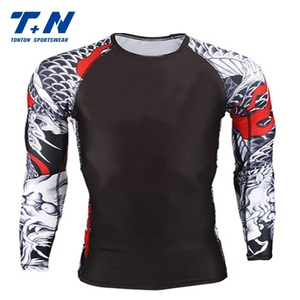 custom sublimation mma bjj rash guard
